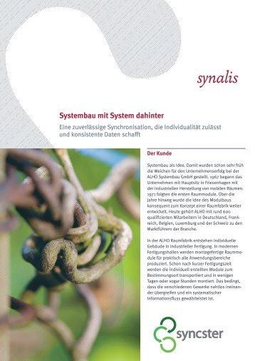 Systembau mit System dahinter - synalis GmbH & Co. KG