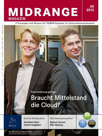 Braucht Mittelstand die Cloud? - ULC Business Solutions GmbH