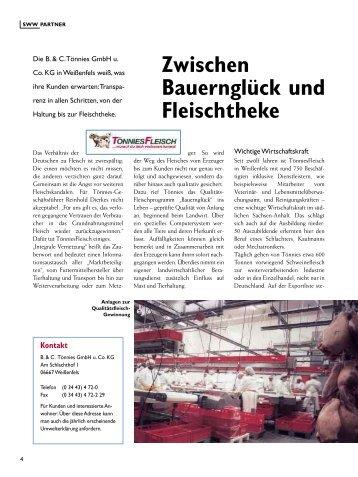 Zwischen Bauernglück und Fleischtheke - Stadtwerke Weißenfels