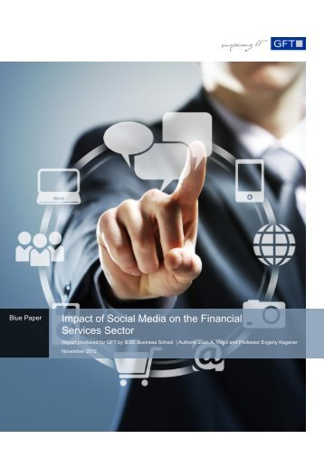 GFT Blue Paper - Social Media Impact on Banking 2012