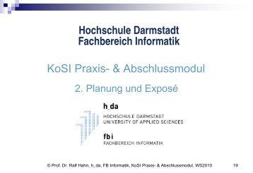 SW-Technik I - beim Fachbereich Informatik - Hochschule Darmstadt