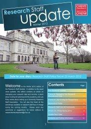 Research Staff Update - Winter 2012 - Cardiff University