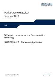 Applied GCE ICT Unit 3 – Mark Scheme – Sample ... - Edexcel