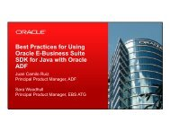 Best Practices for Using Oracle E-Business Suite SDK for Java with ...