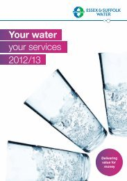 Your water your services 2012/13 - Suffolk customers