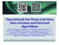 Operational Dst from real-time data streams and forecast ... - Aer.com