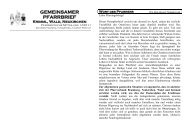 GEMEINSAMER PFARRBRIEF Krimml, Wald ... - Wald im Pinzgau