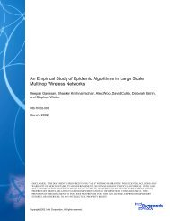 An Empirical Study of Epidemic Algorithms in Large ... - Intel Research