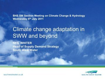 Climate Change Adaptation in South West Water and