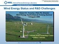 Wind Energy Status and R&D Challenges - EERE - U.S. Department ...