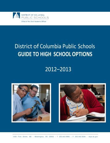 The Guide to High School Options - Washington, District of Columbia