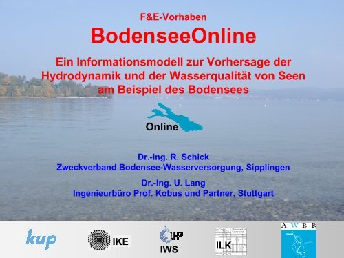 Das Projekt Bodensee-Online- Aktueller Stand; Dr. Roland