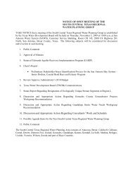 agenda item 5 - South Central Texas Regional Water Planning Group