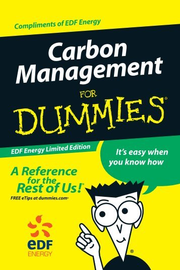 Carbon Management for Dummies by EDF. - Matrix