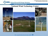 National Wind Technology Center - EFCOG