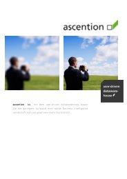 ascention >> mit dem user-driven datawarehouse bauen Sie mit ...