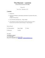 The Challenges Faced By International Communist ... - CPI(ML)
