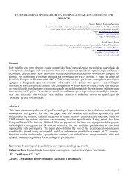 1 TECHNOLOGICAL SPECIALIZATION, TECHNOLOGICAL ... - Anpec