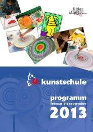 Programmheft der Kunstschule - Stadt Filderstadt