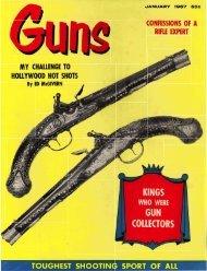 GUNS Magazine January 1957