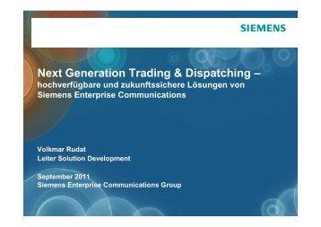 OpenScape Xpert - Siemens Enterprise Communications