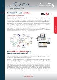 Kommunikation mit SwyxWare Die Kommunikationslösung für ...