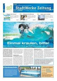 StadtWerke Zeitung - Stadtwerke Finsterwalde