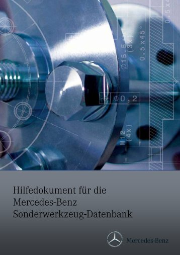 Hilfedokument für die Mercedes-Benz Sonderwerkzeug-Datenbank