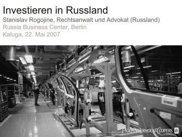 Investieren in Russland - Svaz dopravy ČR