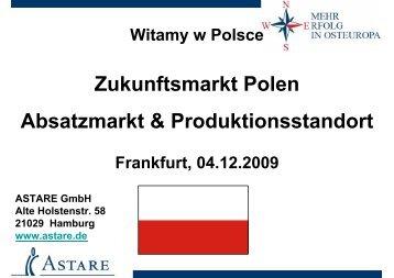 Zukunftsmarkt Polen Absatzmarkt & Produktionsstandort