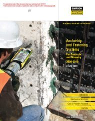 Simpson Anchors - Anchoring and Fastening Systems - BuildSite.com
