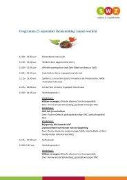 Programma 25 september themamiddag 'samen-werken' - SWZ
