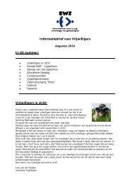 Informatiebrief vrijwilligers SWZ augustus 2010