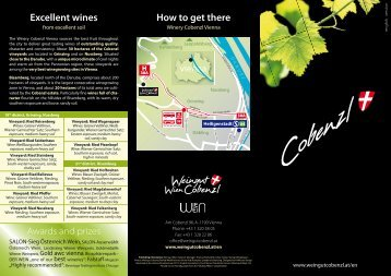 Excellent wines How to get there - Weingut Cobenzl