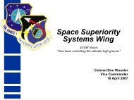 Space Superiority Systems Wing - SMC Industry Days