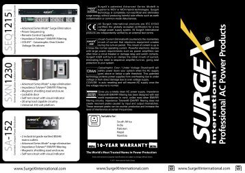 SXN 1230 SA SEQ 1215 -152 i - SurgeX International