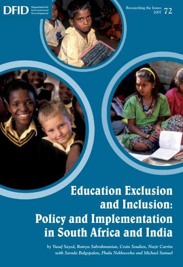 Education Exclusion and Inclusion: Policy and Implementation ... - DfID