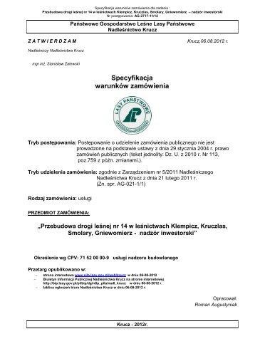 SWZ-Droga nr 14-nadzor_inwestorski - Państwowe Gospodarstwo ...