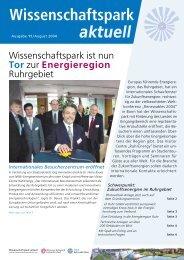 Wipa aktuell - Wissenschaftspark Gelsenkirchen