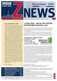 Wirtschaftsbrief 12/2007 - Stadt Zwickau