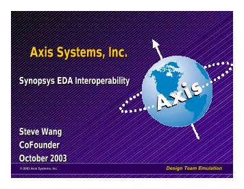 Axis Systems, Inc. - Synopsys