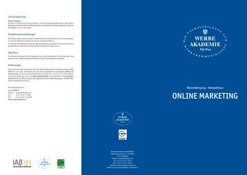ONLINE MARKETING - Werbe Akademie