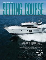 Setting Course - HMY Yachts - HMY Yacht Sales