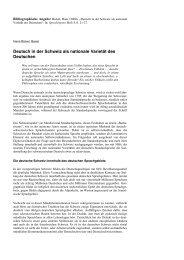 Deutsch in der Schweiz als nationale Varietät des Deutschen