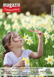 Ausgabe April/Mai 2011 - Zimmerberg-Magazin