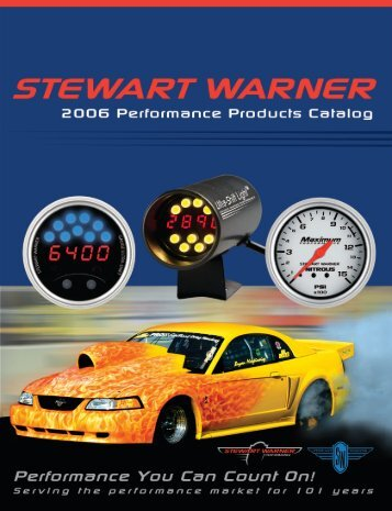 Stewart Warner Performance Products Catalog - Vehicle Controls