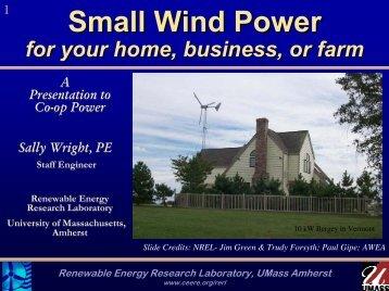 Small Wind Power Technology - University of Massachusetts Amherst