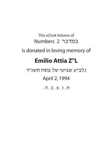 """Emilio Attia Z""""L - Chok L'Yisrael"""