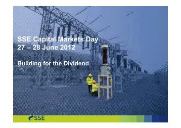 Capital Markets Day presentation - SSE