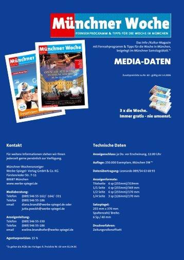 Münchner Woche Mediadaten 07 - Wochenanzeiger München